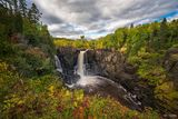 Pigeon River High Falls, Pigeon River, High Falls, Minnesota, Ontario, Autumn Rush, Canada, Lake Superior, Autumn, Rush, Waterfall, Lake