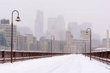 Minneapolis, Minnesota, Snowy Stone Arch, Snowy, Stone Arch Bridge, Stone Arch, Saint Anthony Falls, Saint Anthony