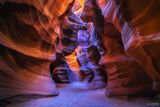 Page, Arizona, Upper Antelope Canyon, Slot Canyon, The Chamber,  American Southwest, Navajo Sandstone, The Crack
