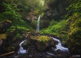 Wahe Falls, Oregon, Wahe, Falls, Wahe Flow, Flow, Moffett Creek Falls, Moffett, Columbia River Gorge, Columbia River, Gorge, John B. Yeon State Scenic Corridor, Multnomah County