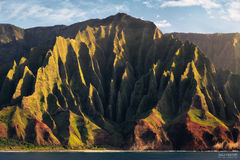 Na Pali Coast, Kauai, Hawaii, High Cliffs, Kalalau Valley, Pacific Ocean, Crown Of Kauai