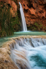Grand Canyon, Arizona, Havasupai Falls, Havasu Falls, Havasupai, Havasu Creek, Supai, Desert Oasis, Waterfall