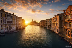Venice, Italy, Gilded, Grand Canal, Canal, Channel, Lagoon, Palazzos