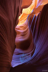 Page, Arizona, Hidden Flame, Rayleigh Scattering, Slot Canyon
