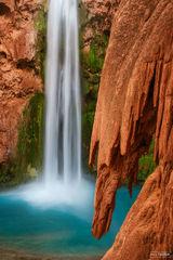 Mooney Falls, Grand Canyon, Arizona, Into the Blue, Havasu Creek, Havasupai, Havasu Falls, Supai