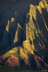 Na Pali Coast, Kauai, Hawaii, High Cliffs, Kalalau Valley, Pacific Ocean, Jagged Edge