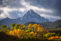 Ridgway, Colorado, Opposing Forces, Mount Sneffels, Rocky Mountains, Ouray, Mountains, Aspen Trees