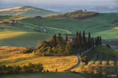 Val d'Orcia, Tuscany, Italy, Rolling Green