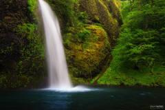 Horsetail Falls, Columbia River Gorge, Oregon, Serenity Now
