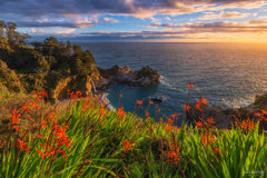 McWay Falls, Big Sur, California, Waterfall, Julia Pfeiffer Burns State Park, Sunset Cove
