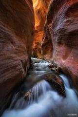 Kanarra Creek, Kanarraville, Utah, Tranquil Flow, Slot Canyon