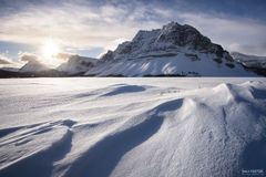 Bow Lake, Alberta, Canada, Bow River, Canadian Rockies, Icefields Parkway, Windswept