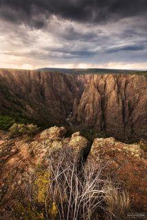 Black Canyon of the Gunnison National Park, Colorado, Black Rain