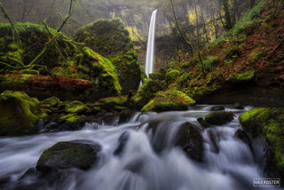 Elowah Falls, Oregon, Columbia River Gorge, Boulder Alley, Waterfall, McCord Creek Falls
