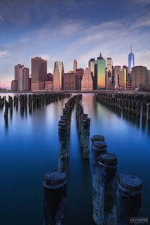 New York City Skyline, New York, Manhattan Skyline, East River, NYC Skyline, Deep Still Blue