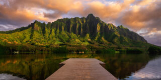 Oahu, Hawaii, From Here to Eternity, Hawaiian Islands, Honolulu, Panoramic, Pano