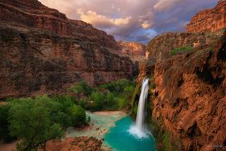 Grand Canyon, Arizona, Havasupai Falls, Havasu Falls, Havasupai, Falls, Havasu Creek, Supai, Garden of Eden