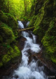 Gorton Creek Falls, Oregon, Gorton Scramble, Columbia River Gorge, Pacific Northwest