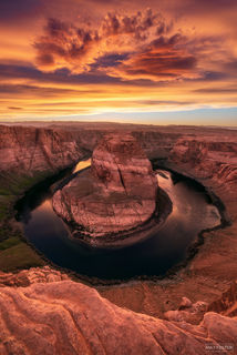 Horseshoe Bend, Page, Arizona, Colorado River, Glen Canyon Dam, Lake Powell, Glen Canyon National Recreation Area, Halo