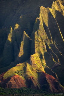 Na Pali Coast, Kauai, Hawaii, High Cliffs, Kalalau Valley, Pacific Ocean, Jagged Edge