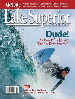 Lake Superior Magazine, March 2019, Minnesota Imagery, Superior Vista, Palisade Head