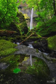 Elowah Falls, Oregon, Mirrored Beauty, Columbia River Gorge, John B. Yeon State Scenic Corridor, Waterfalls