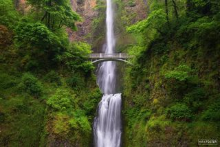 Multnomah Falls, Oregon, Columbia River Gorge, Multnomah Creek, Waterfall