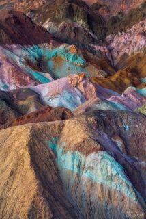 Death Valley National Park, Artist's Palette, California, Pastel Palette