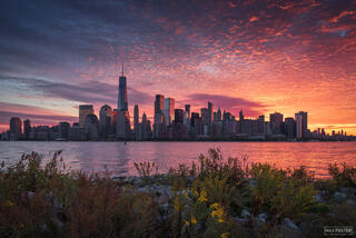 New York City Skyline, Manhattan Skyline, Rise and Shine, Hudson River, NYC Skyline