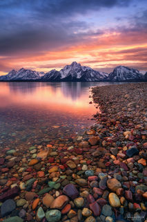 Grand Teton National Park, Wyoming,  Jackson Hole, Teton Treasures, Jackson Lake, Rainbow Rocks, Colored Rocks, Pebbles