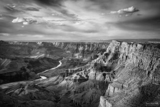 Grand Canyon National Park, Arizona, Time and Chance, Desert View, South Rim, Black and White, Monochrome
