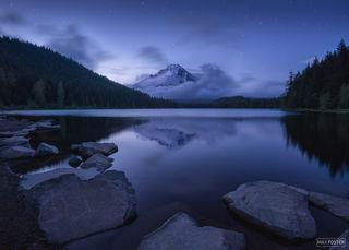 Trillium Lake, Oregon, Trillium Twilight, Mount Hood