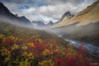 Arrigetch Peaks Wilderness, Gates of the Arctic National Park, Alaska, Valley In The Clouds