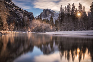 Yosemite National Park, California, Half Dome, Winter Solstice