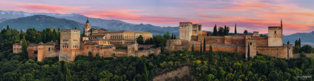 The Alhambra, Granada, Spain, Alhambra Sunset, Andalusia, Palace, Fortress