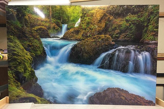 A 40x60 Gallery Ultra Trulife Acrylic Print of Aquamarine Dream.