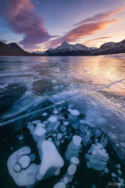 Abraham Lake, Alberta, Canada, Methane, Frozen Bubbles, Methane Gas, Deep Freeze,