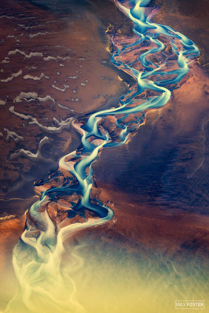 Iceland, Aerial Photography, Eternal Flame
