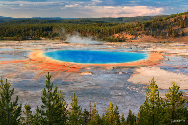 Grand Prismatic Spring, Yellowstone National Park, Wyoming, Hot Spring, Midway Geyser Basin, Eye of The Tiger