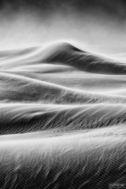 Mesquite Flat Sand Dunes, Death Valley National Park, California, Fury, Black and White
