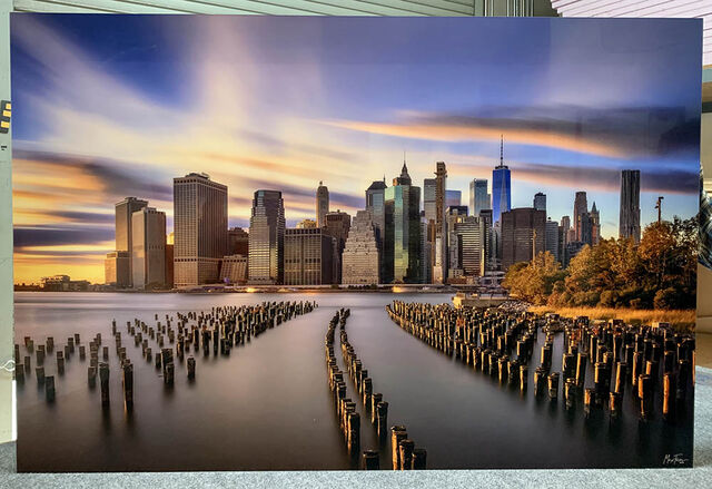 A 40x60 Gallery Ultra Trulife Acrylic Print of New York Piers.