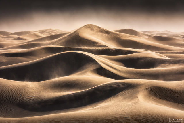 Mesquite Flat Sand Dunes, Death Valley National Park, California, Wind, Relentless