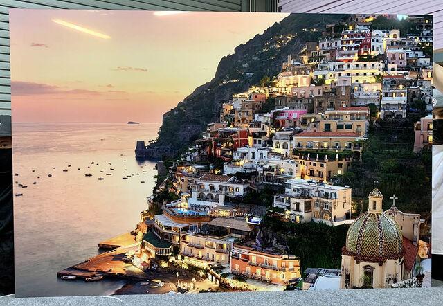 A 48x72 Gallery Ultra Trulife Acrylic Print of Sparkling Positano.
