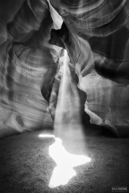 Page, Arizona, Antelope Canyon, Slot Canyon, Navajo Sandstone, Spirit Animal, Black and White, Monochrome