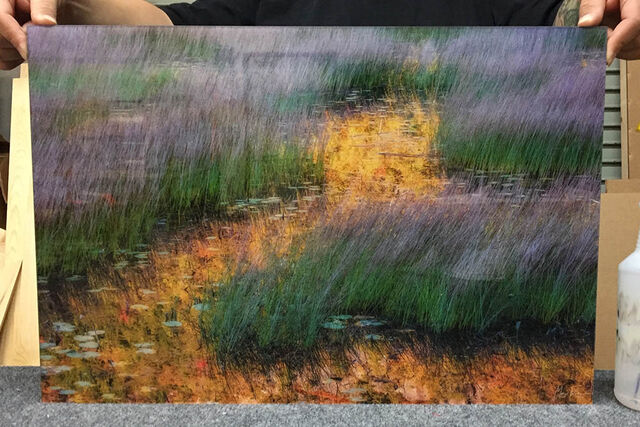 A 16x24 Museum Standard Acrylic Print of Watercolor Memories.