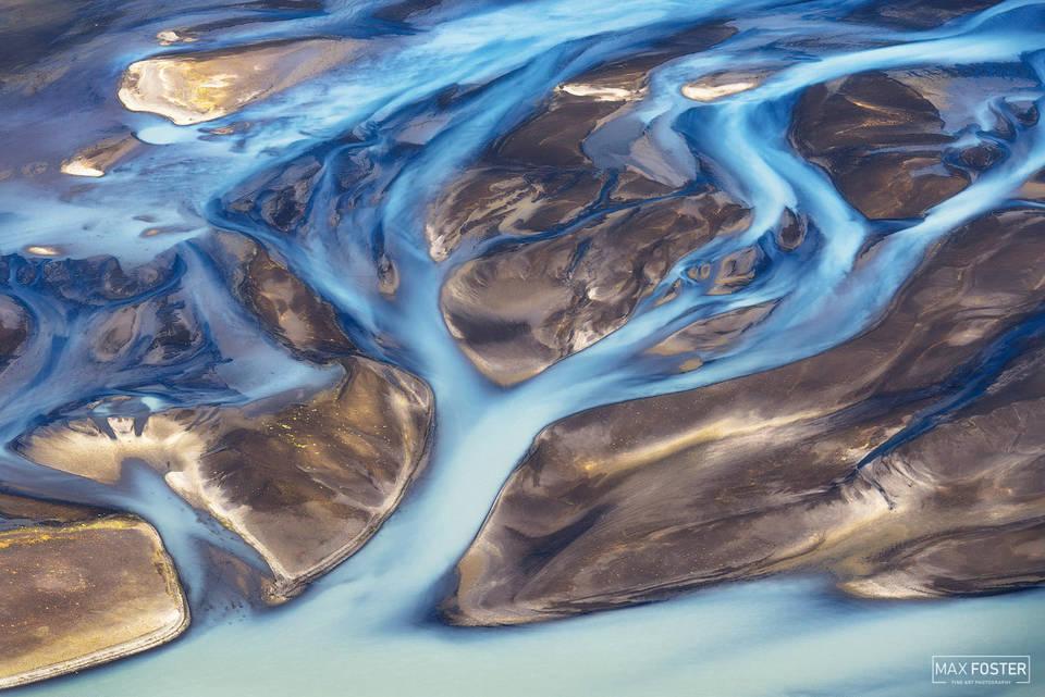 Iceland, River, Blue Blood