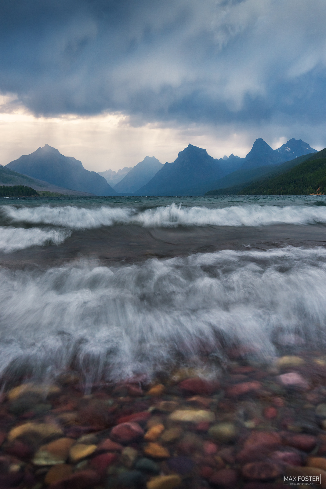 Glacier National Park, Montana, Lake McDonald, A Stormy Brew, Rocky Mountains, photo