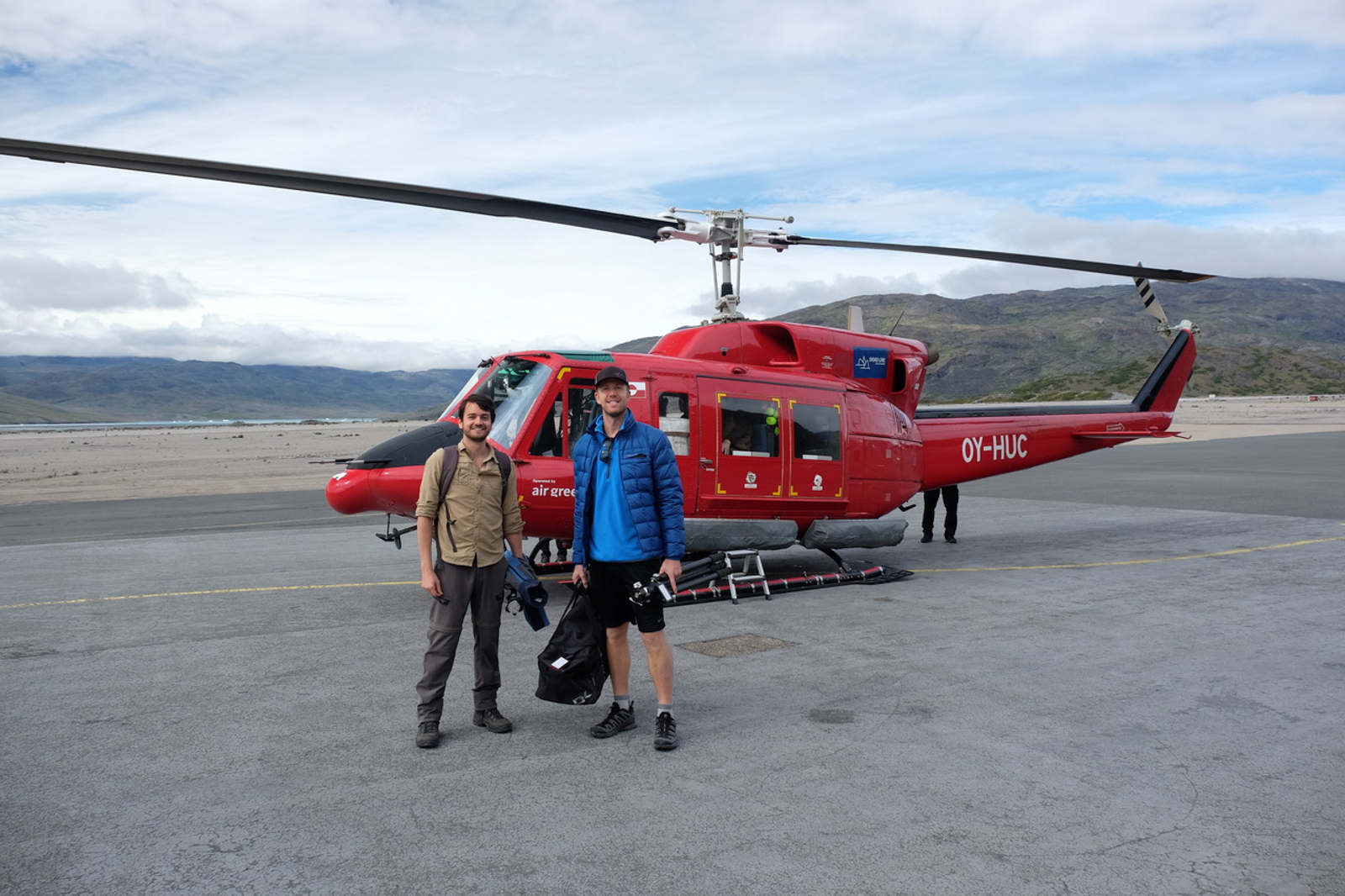 Air Greenland Helicopter in Narsarsuaq