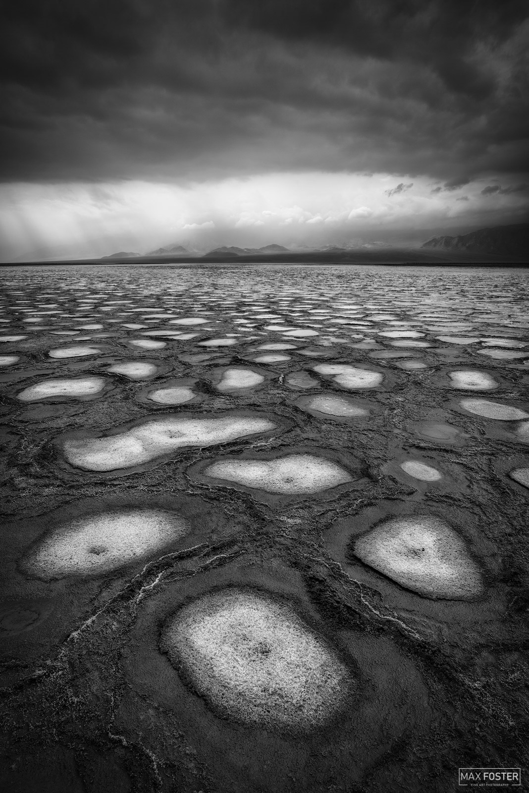 Death Valley National Park, California, Alien Landscape, Salt Pans, Salt Flats, Badwater Basin, Black and White, photo