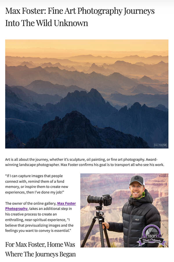 Max Foster: Fine Art Photography Journeys Into the Wild Unknown